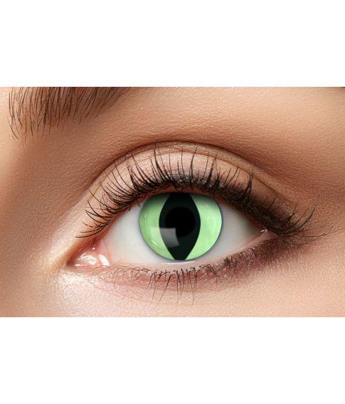 56f86634003c køb flotte lysegrønne slange kontaktlinser til dit kostume her