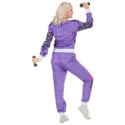 Disco 80er joggingdragt kostume til 80er festen.
