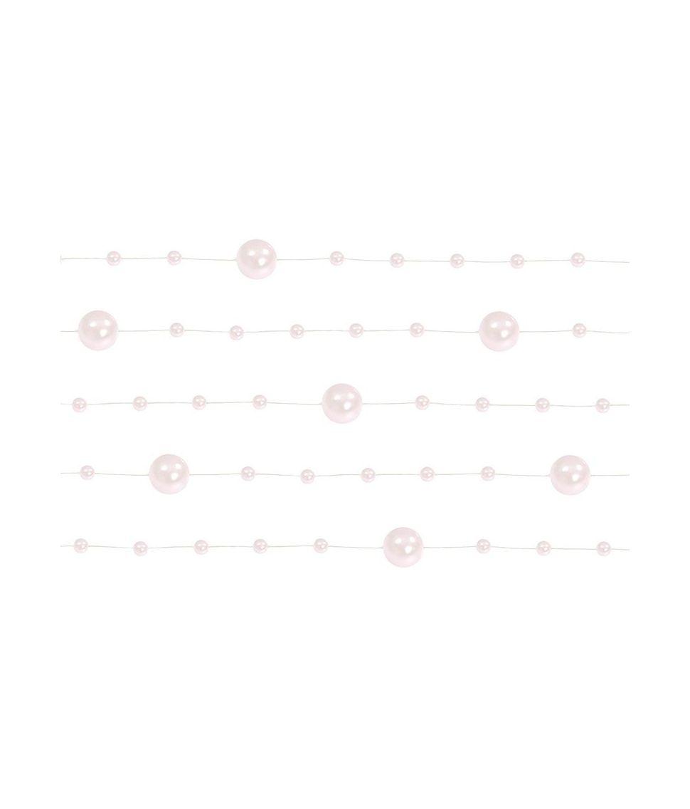 Smuk lyserød perleguirlande på 1,3 m.