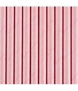 10 stk. flotte lyserøde sugerør i papir