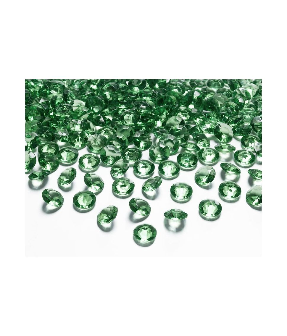 Diamant konfetti mørk grøn 100stk