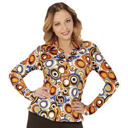 Smart skjorte til 70er / 80er udklædningen med flot mønster.