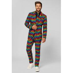 OppoSuit jakkesæt i regnbuens farver.