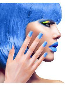 Flotte selvklæbende neon blå negle