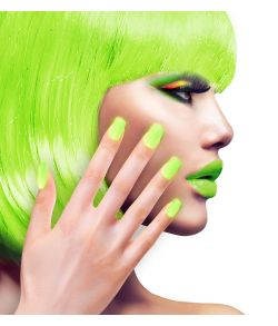 Flotte selvklæbende neon grønne negle