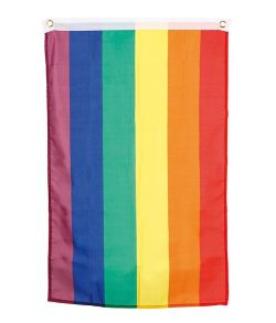 Regnbue flag i polyester.