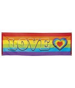 Regnbue banner i polyester.