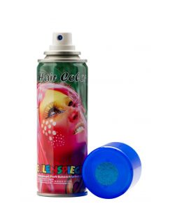 Blå glimmer hårspray