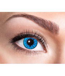 Blå linser med sort stjerne motiv.