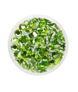 100 lyse grønne ansigtssten til at lime på huden fra Eulenspielgel.