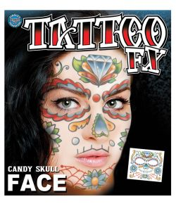 Tattoo Candy Skull Face
