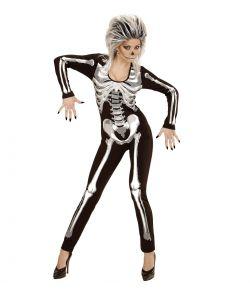 Skelet kostume til damer til Halloween.
