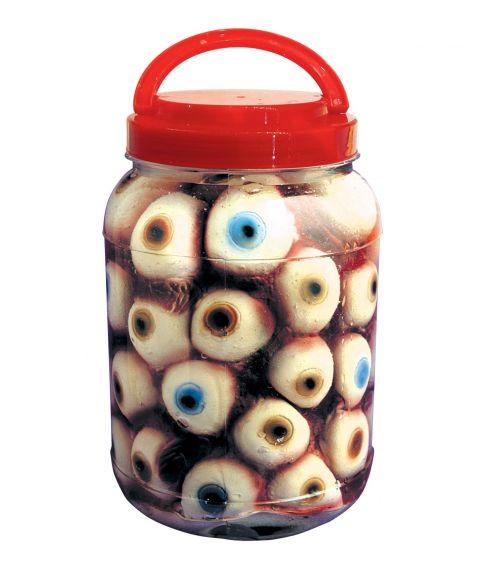 Øjne i laboratorie glas til halloween dekoration.