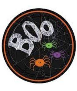 Spider Frenzy paptallerkener til halloween festen.