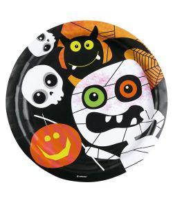 Halloween Kids paptallerkner til halloween festen.