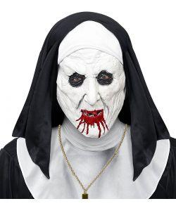 Blodig nonne maske til voksne.