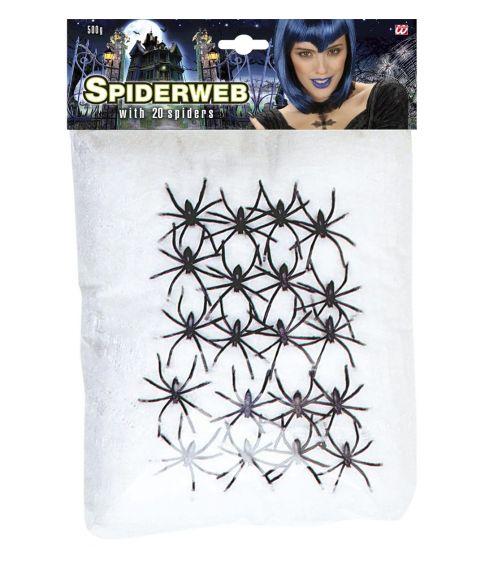 Hvidt spindelvæv til halloween.