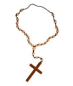 Kors med rosenkrans til kostume.