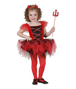 Ballerina Djævle kostume til små piger. Størrelse 110-116 cm