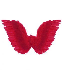 Røde fjervinger til djævle kostume.
