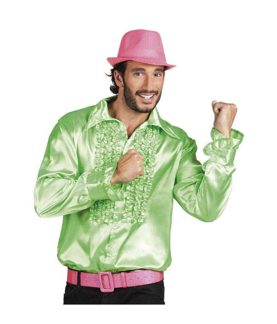 Flæseskjorte neon grøn