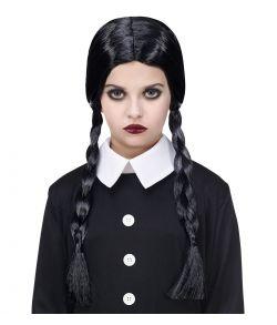 Dark girl paryk til piger til halloween.