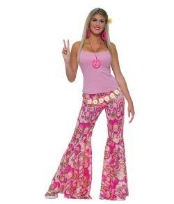 Pink Hippiebukser til damer.
