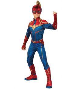 Captain Marvel kostume til piger.