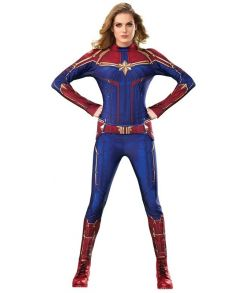 Captain Marvel kostume til voksne