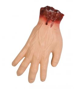 Blodig afrevet hånd til halloween.
