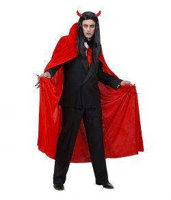 Rød velour kappe til voksne.