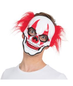 Clown skull maske