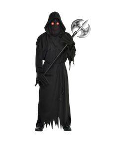 Uhyggeligt halloween kostume med lysende øjne til voksne til halloween