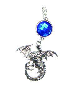 Flot drage halskæde med blå sten