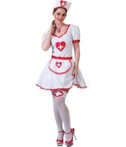Sygeplejerske kostume størrelse 36/38.