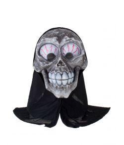 Sjov skelet maske i plastik med store øjne