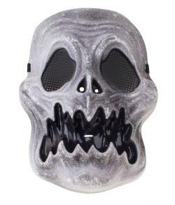 Uhyggelig spøgelses kranie maske i hård plastik