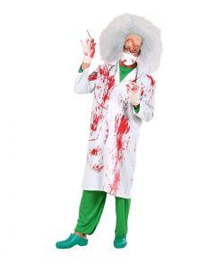Blodig lægekittel til halloween.