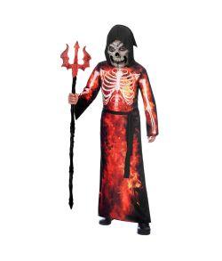 Fire Reaper kostume til drenge til halloween.