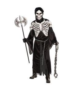 Uhyggeligt halloween kostume.