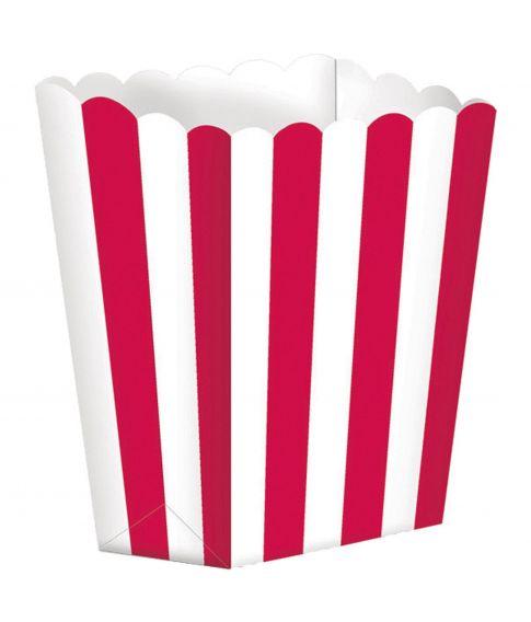 Popcorn bægre med røde striber