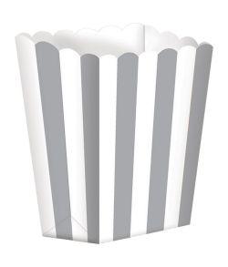 Popcorn bægre i pap med sølv striber