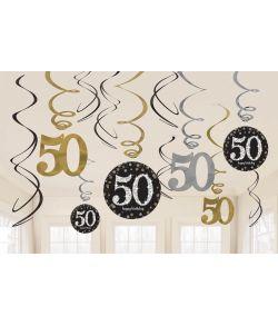 Spiraler til 50 års fødselsdag eller guldbryllup.