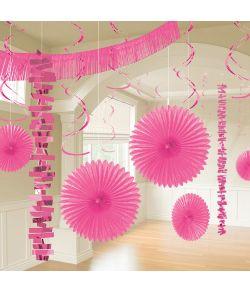 Pink festpynt 18 dele