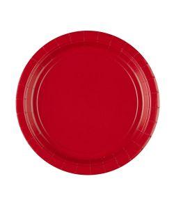8 stk. billige røde paptallerkner