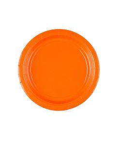 Orange paptallerken 17,7cm