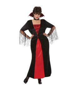 Kjole og choker med krave til vampyr udklædningen