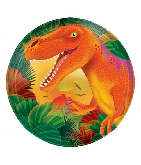 Dinosaur tallerken 17 cm