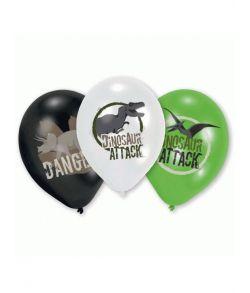 Dinosauer Attack balloner 6 stk