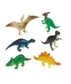 8 stk mini dinosauer figur